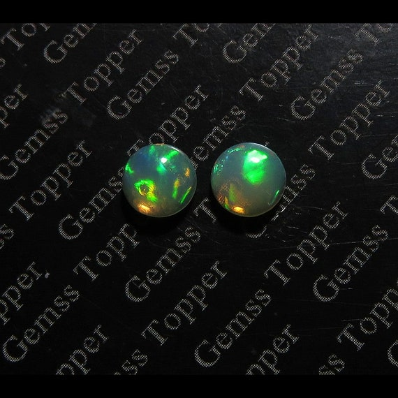 FOR ONE Loose Opal 9mm Ethiopian Opal Cab Round Top Quality Multi Fire Opal Natural Loose Gemstone Opal Cabochon Welo Opal