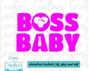 Boss Baby Girl Svg Etsy