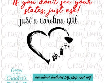 Small Town Girl Svg South Carolina Yall i SVG Need Jesus SVG DXF Silhouette Eps Silhouette Studio Cricut Cameo Iron On Decal Vinyl Decals