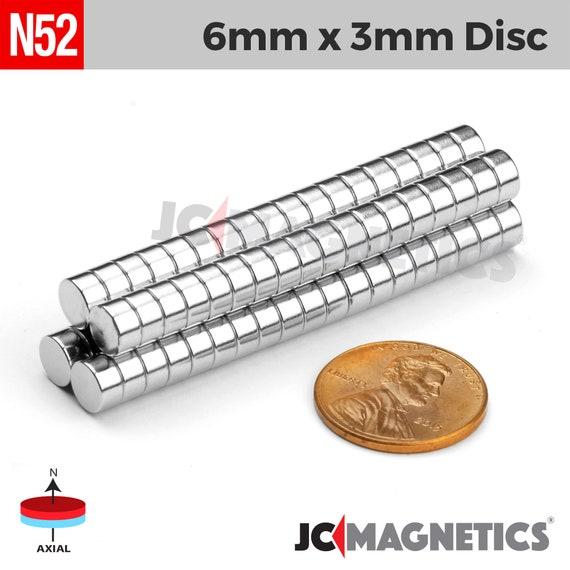 "1//4/""x1//8/"" Fridge Magnet 6mmx3mm Super Strong Neodymium Disc Magnets 6x3mm"