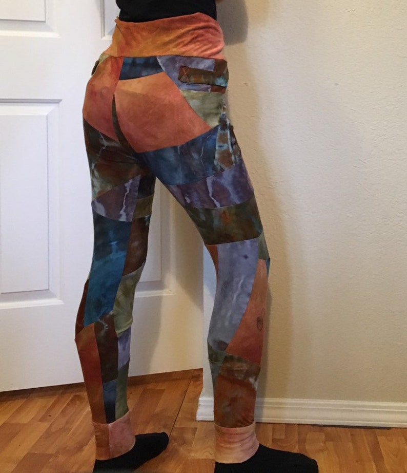 SM Fusion Thread Collective Patchwork Leggings with Pockets