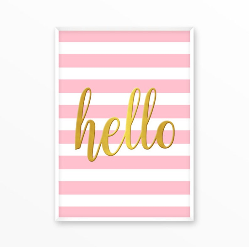 photograph about Etsy Printables titled Hi there, Delight in, gold, red Print, printable, artwork, electronic, Typography, Offers, Poster, Inspirational Dwelling Decor, Screenprint, wall artwork, present