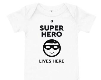 Super Hero Baby one piece short sleeve