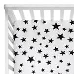 Fitted Crib Sheets Boy, Toddler Bedding Boy Star Mini Crib Sheet, Black and White Crib Bedding Modern Kids Bedding Boy, Toddler Sheets