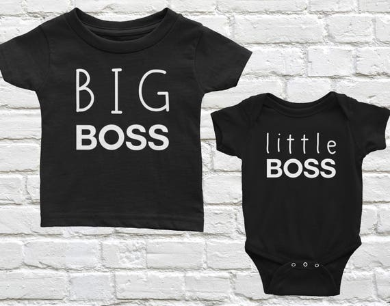 Tstars Big Brother Bear Shirt Little Baby Boy Girl Bodysuit Matching Sibling Outfit Set