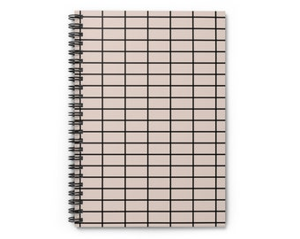 Nude Grid Spiral Notebook A5 - Ruled Line