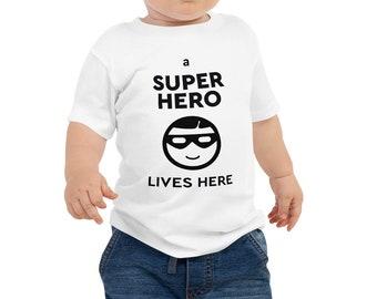 Super Hero Baby Tee, Jersey Short Sleeve Tee