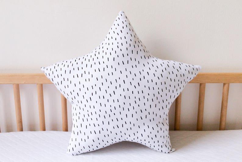 Star Pillow Cloud Pillows Matching Kids Pillows Set Cute Pillow Baby Cushion Christmas Gift Kids Monochrome Nursery Moon Nursery Decor