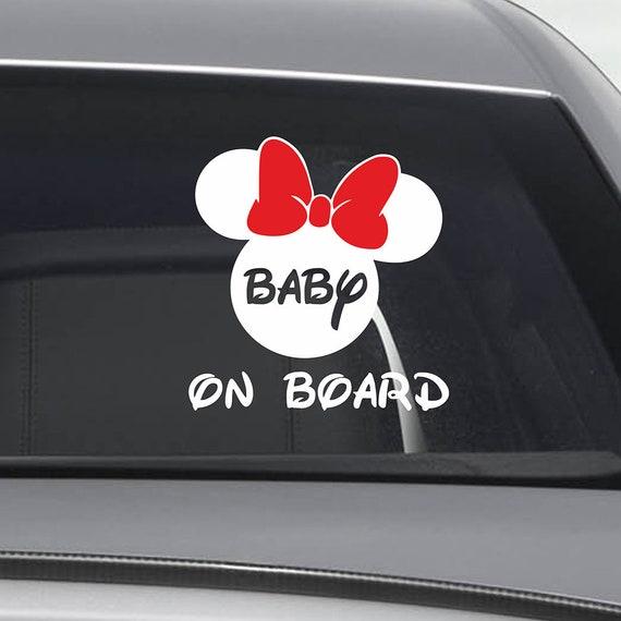 I bambini a bordo auto Bambino Bambini Disney Finestra Adesivo Decalcomania Segno di sicurezza