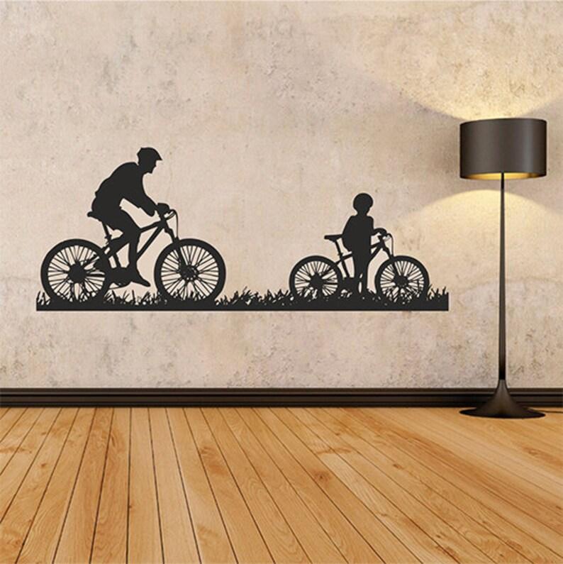 bicycles wall decal wall decal bicycles wall sticker bike | etsy