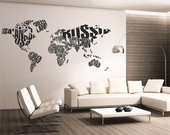 Map of the world silhouette wall decal globe wall decal wall map of the world wall decalworld map typographywall map decal word world map wall decalletters world map wall decallarge wall map 014 gumiabroncs Image collections