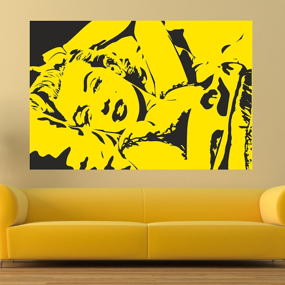 Marilyn forever wall decal Pop art wall decal Marilyn Monroe