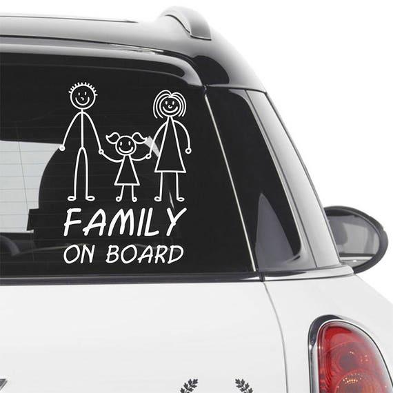 Famille À Bord Voiture Signe-option pour personnaliser