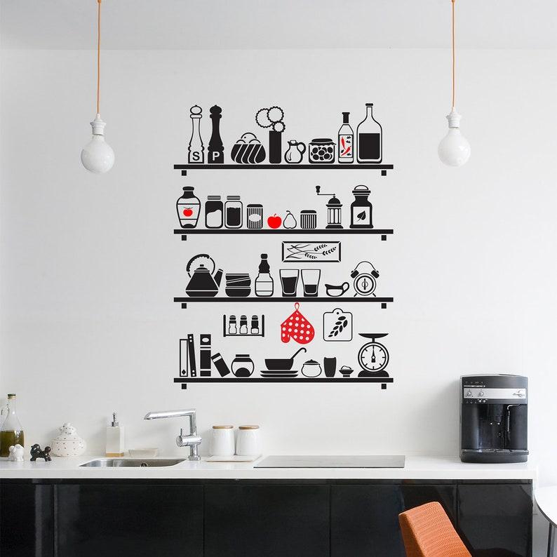 Merveilleux Küche Regale Wandtattoo Küche Wandtattoo Küche Geschirr | Etsy