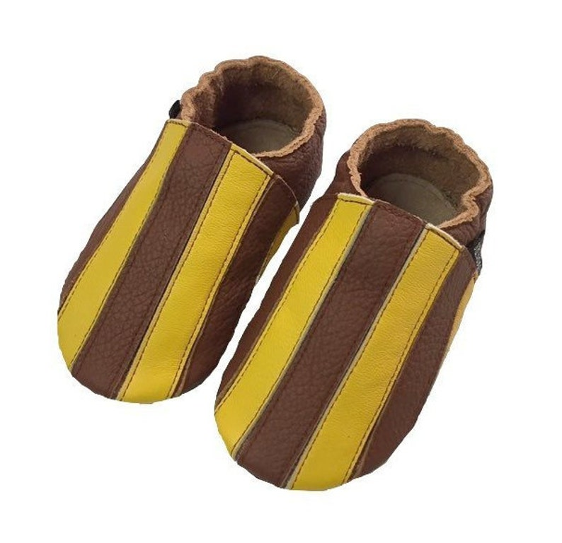67c76c7909f Brown Stripe Baby Shoes Toddler Boy Shoes Baby Girl Shoes