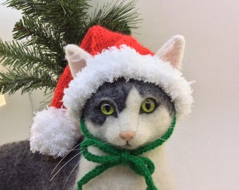 cat hat jingle bells christmas hat santa hat for cats cat etsy
