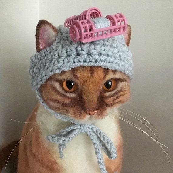 Hats For Cats Curler Hat Cat Hat Cat Costumes Cat Etsy