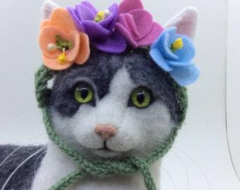 Flower wreath, cat hats, cat photo prop, picture prop, cat costumes, cats, kitten hats, cat accessories, pet supplies, kittens, flowers