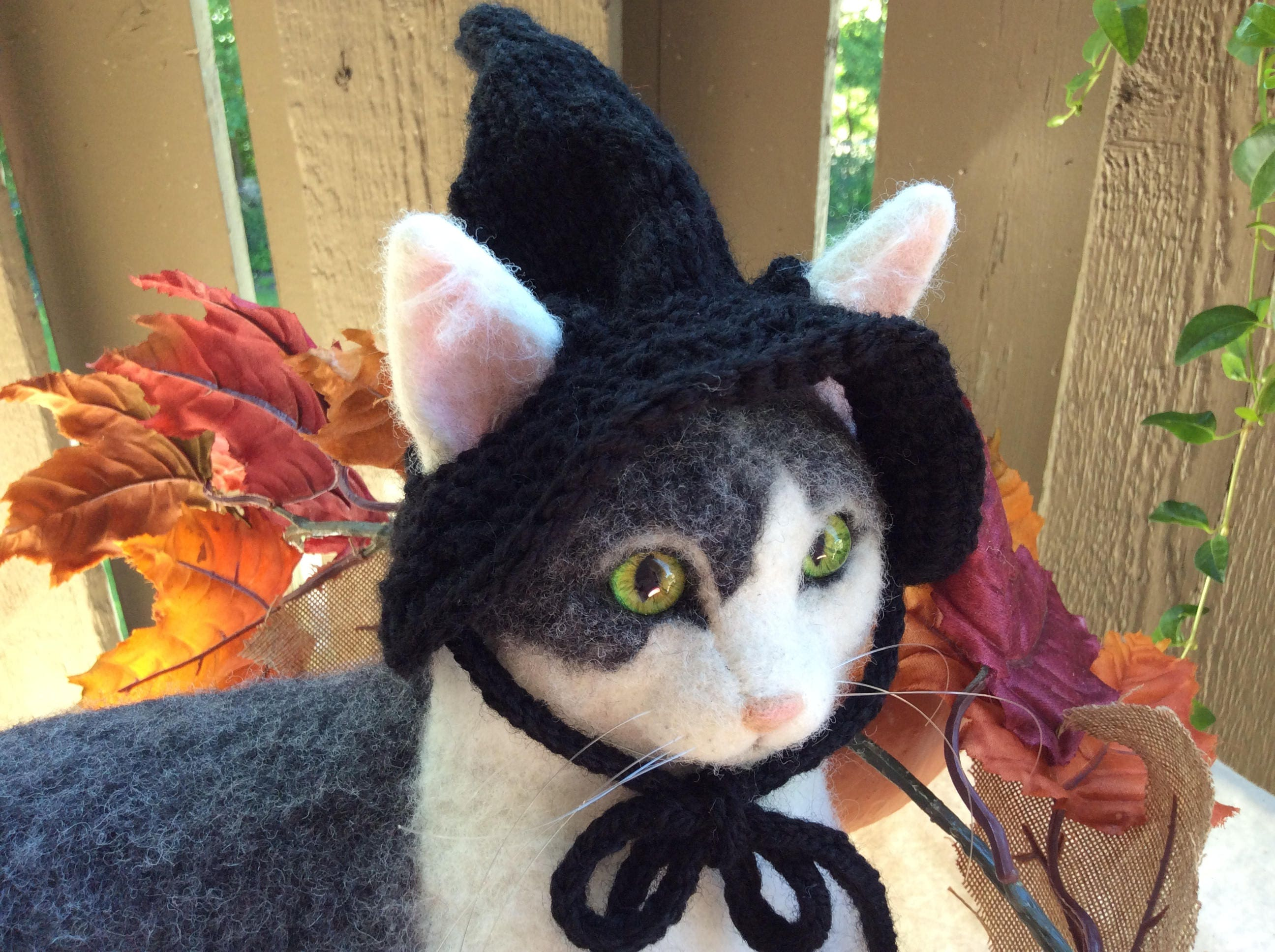 Witch hats Halloween cat costume pet costume hats for   Etsy