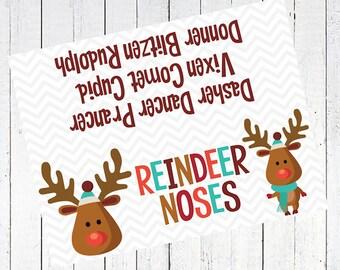 reindeer noses printable bag toppers - Reindeer Noses Bag Toppers Printable