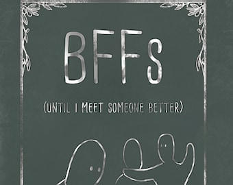Cute humour card, with a funny message. Oversharing is Caring, just because card, humor, BFF, BFFs, Shabby Chic