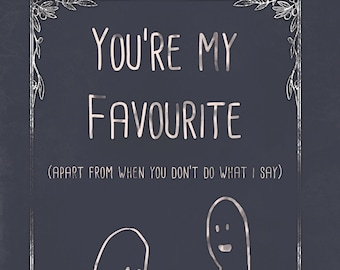 Cute humour card, with a funny message. miss you, my favourite, Oversharing is Caring, humor, just because, best friend, BFF