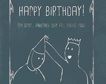 Cute humour birthday card, with a funny message. Oversharing is Caring, humor, BFF, BFFs, Shabby Chic, unique, alternative
