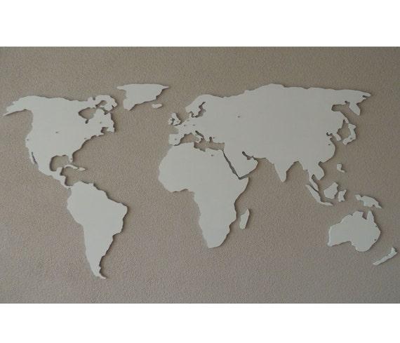 Magnetische Xl Holz 3d Weltkarte Schwebend An Der Wand Etsy