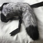 Pre Made Ready To Ship Kitten/ wolf Play Faux Fur Tail, BDSM