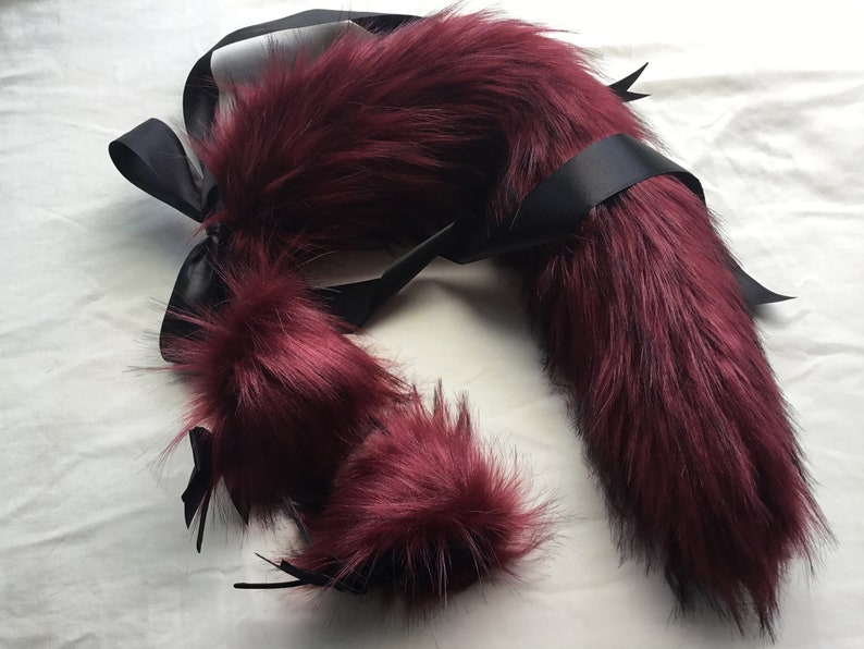 Rouge Kitten-wolf Play Set Tail & EarsBDSM petplay kawaii image 0
