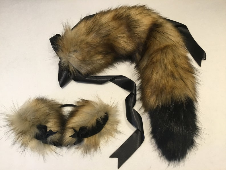 Luxury Butterscotch Wolf   kitten Play Set Tail & image 0