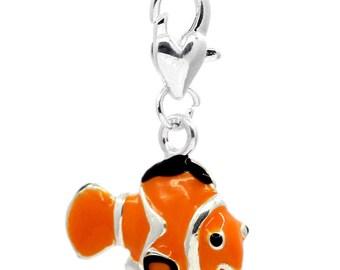 Nemo Fish Clip-On Charm