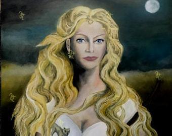 Art print on paper, Artemis