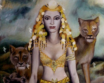 Art print on paper, Ishtar