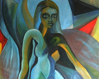 painting oil on canvas, cubistic, expressionism
