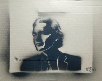 Spraying positive man - Artwork
