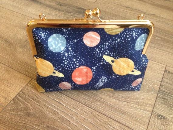 Planeten Kupplung Tasche Weltraum-Tasche Planeten-Druck | Etsy