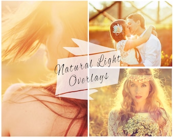 Natural Sun Light Photoshop Overlays, Sunlight Overlays, Sun Flare, Wedding Overlays, Digital Backdrop, Instant Download