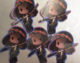 Horror Themed Kawaii Walking Dead Parody Gift Stickers for  Zombie Lover fans!