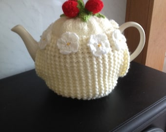 Strawberries and Cream- Tea Cosy.