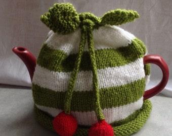 Green and cherry - Tea Cosy.