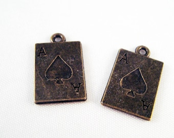 14k or Jaune 6 faces jeu Las Vegas souvenir souvenir pendentif Joaillerie Dés Charm