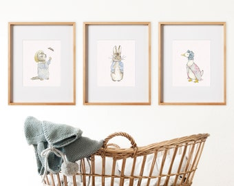 627e36337 Set of 3 Beatrix Potter Nursery Art Prints. Beatrix Potter Downloadable  Prints. Peter Rabbit Downloadable Prints.