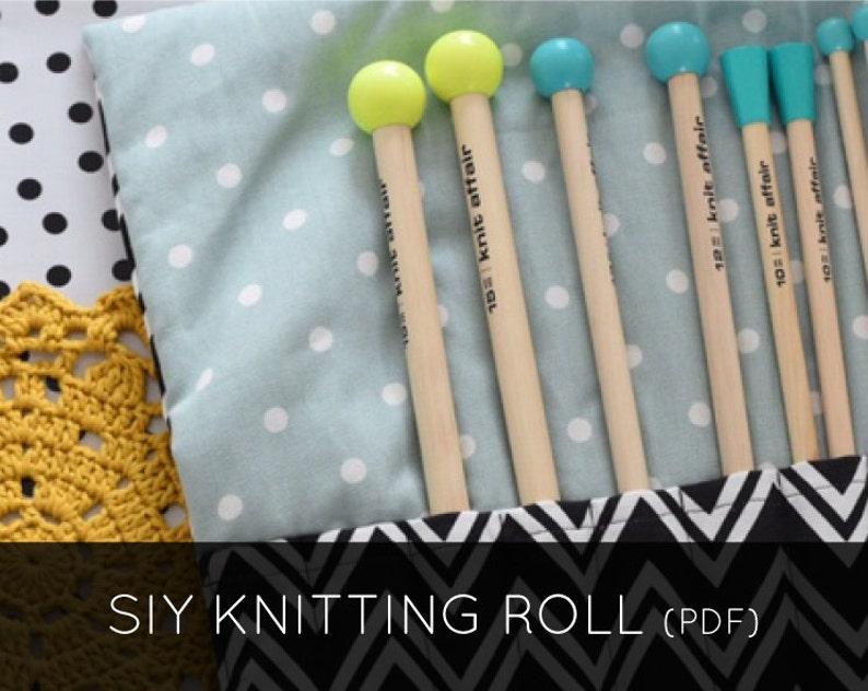 Sew It Yourself Knitting Roll PDF Pattern image 0