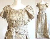 Snakeskin 70s evening dress, 70s snakeskin maxi dress, vintage snakeskin maxi cocktail dress