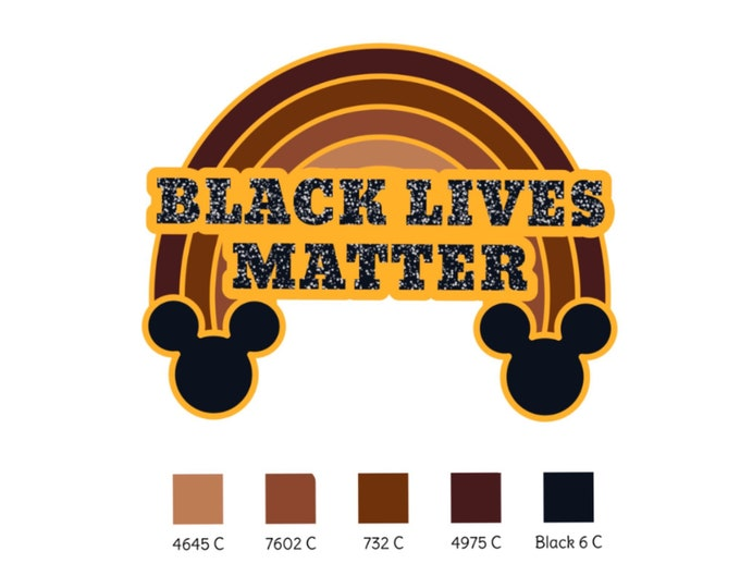 Black Lives Matter | Enamel Pin | Donation | Gold | Rainbow