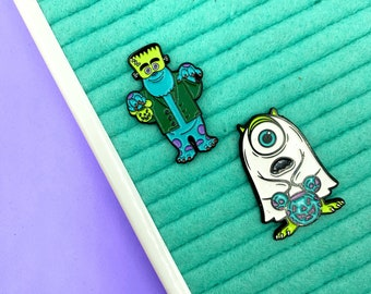 Trick or Treat Monster Pins