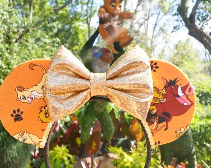 Lion King Ears | Mouse Ears | Minnie Ears | Custom | Bows | Headband | Timon and Pumba | Nala