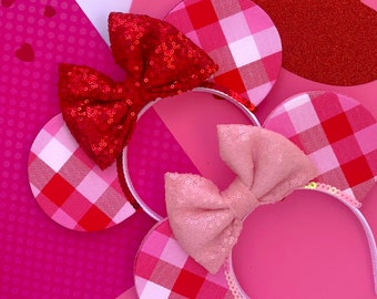 My Plaid Valentine Mouse Ears