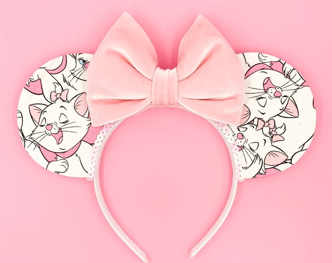 Pink Bow Cat Ears